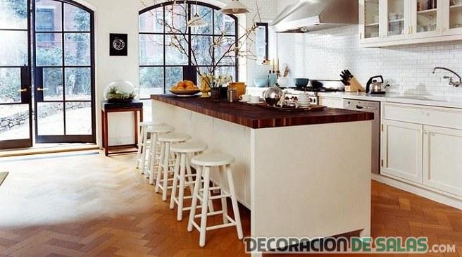 suelo en marrón para cocina