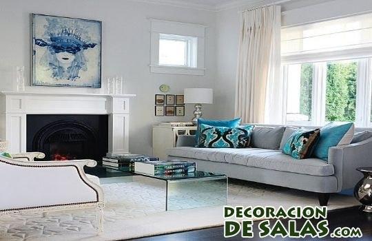 suelo negro decorado con alfombra blanca