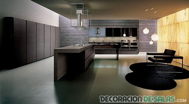 suelos brillantes en la cocina