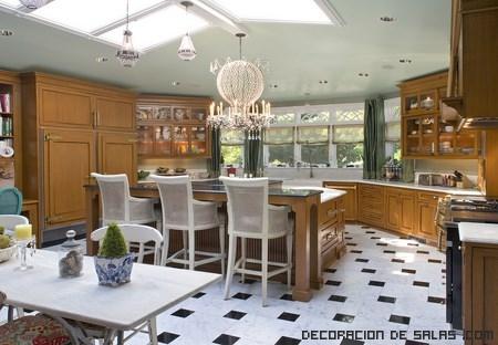 Cocinas de madera elegantes