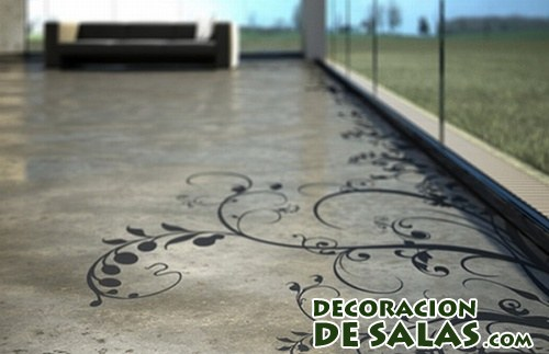 suelos decorados con vinilos