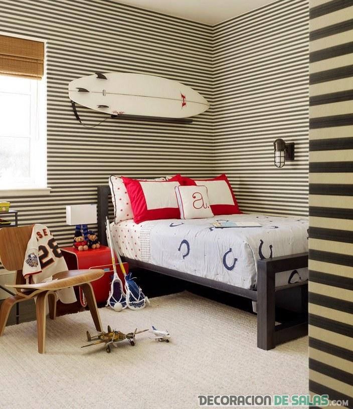 tabla de surf para decorar dormitorios