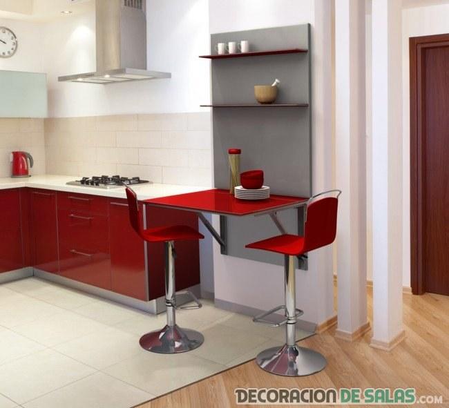 taburetes en color rojo