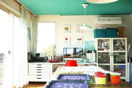 techo colores paredes blancas