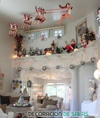techo decorado para navidad