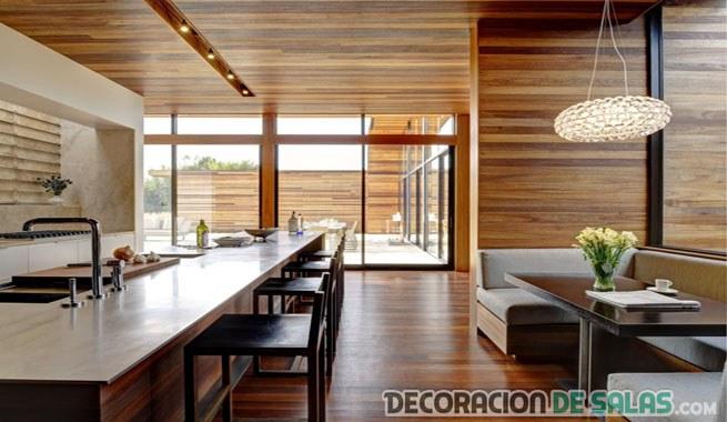 techos de madera en casas de lujo