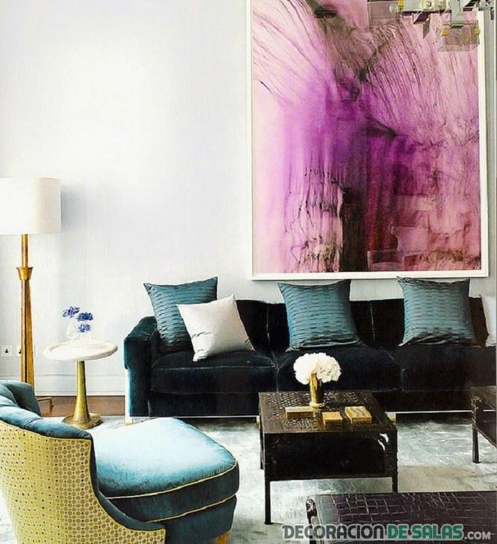 terciopelo para el sofá del salón