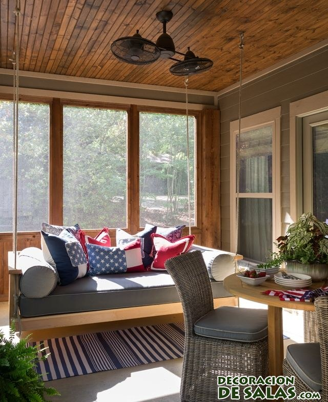 terraza casa de madera