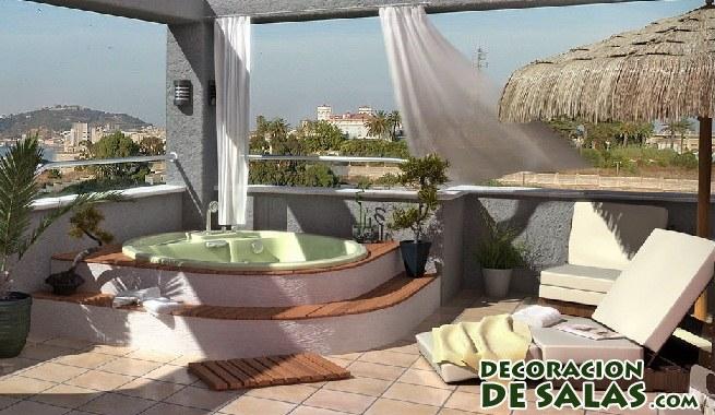 terraza relajante con vistas