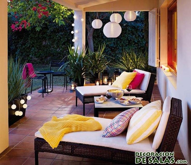 terraza relajante otoñal