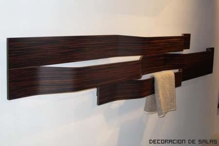 toallero madera