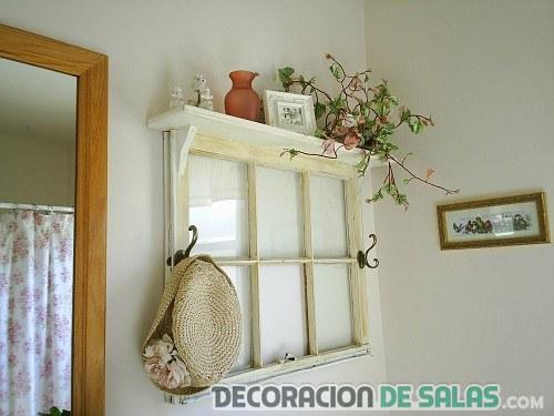 ventana reciclada para paredes