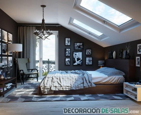 ventanas en el techo del dormitorio