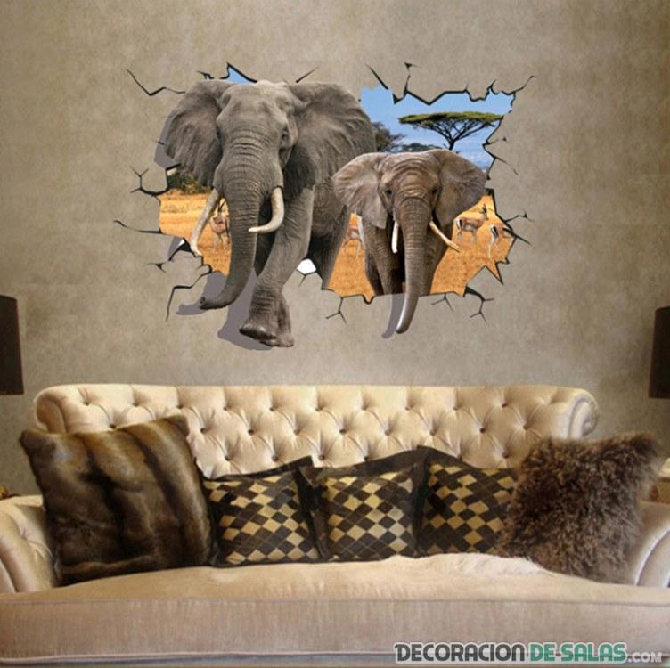 vinilo de elefantes para el salón