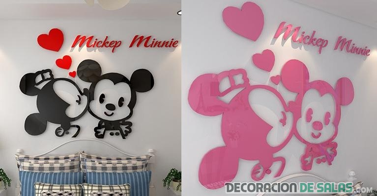 vinilo mickey y minnie mouse