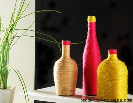 Botellas para decorar tu hogar