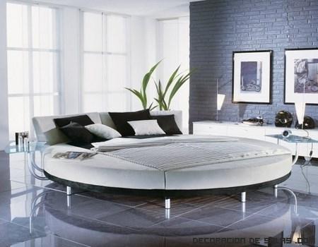 Camas redondas para un dormitorio moderno