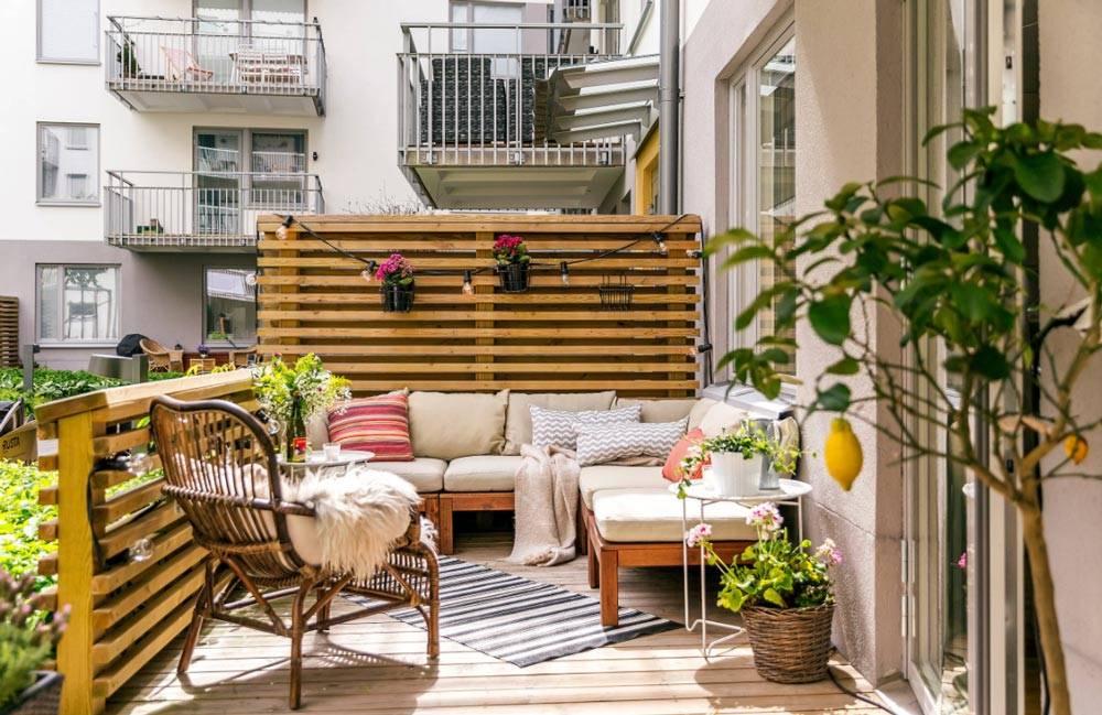 decoración fresca de la sala de estar Crear Decoracin En La Terraza Moderna Y Fresca Para El