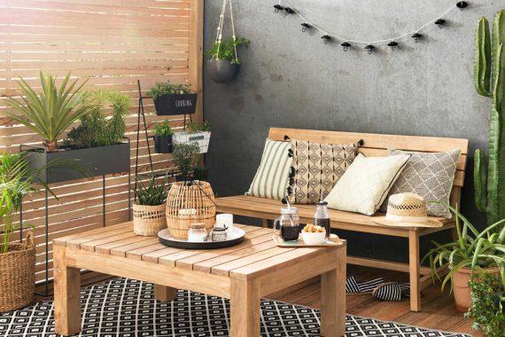 Crear Decoración En La Terraza Moderna Y Fresca Para El
