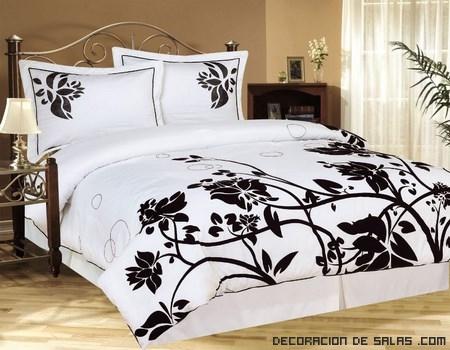 Edredones en blanco y negro decoraci n de salas for Dormitorio para padres en blanco y negro
