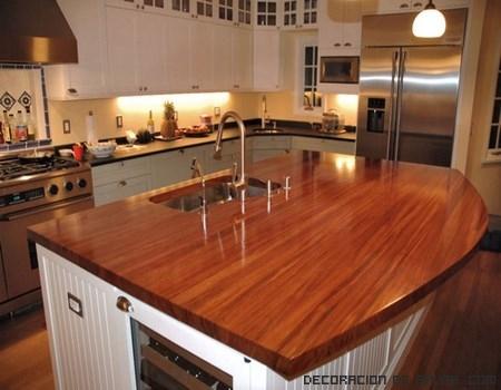 Encimeras de madera para tu cocina
