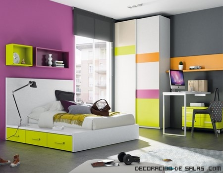 Dormitorios juveniles con camas tatami