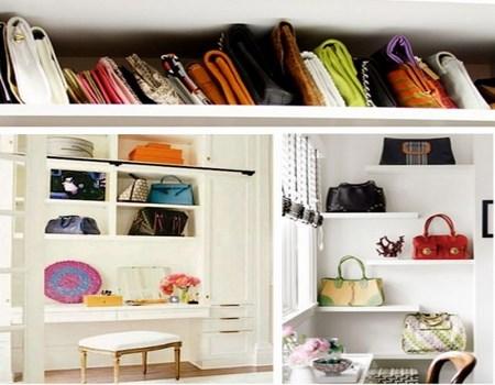 Ideas para guardar los bolsos decoraci n de salas - Como guardar los bolsos ordenados ...
