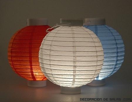 Ideas para tus lámparas de papel