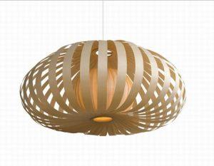 Lámparas originales de bambú