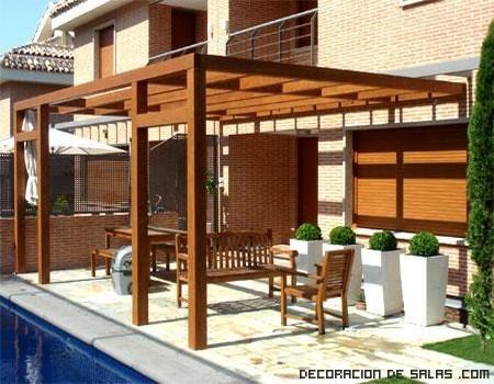 Pérgolas de madera para tu jardín