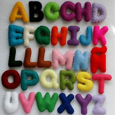 hacer letras de fieltro