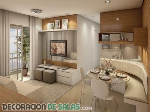 Apartamentos peque os y modernos decoraci n de salas for Decoracion interiores apartamentos pequenos