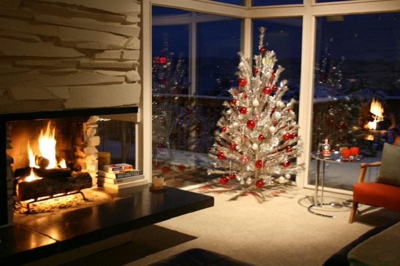 Árbol de navidad en plateado