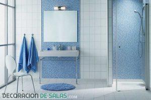 Decorando baños en color azul