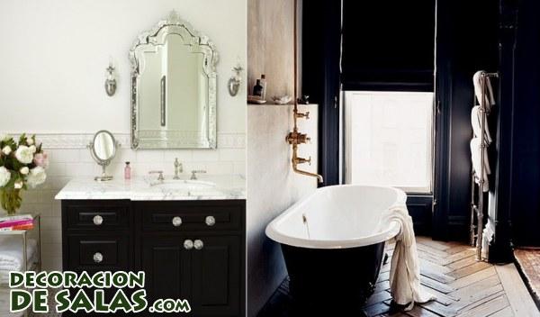 Ideas para decorar tus baños en blanco y negro