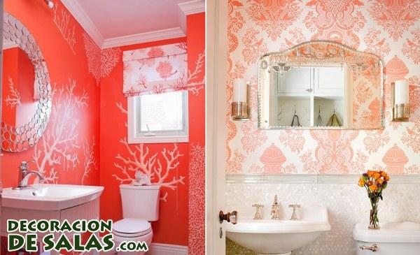 El color coral en los baños