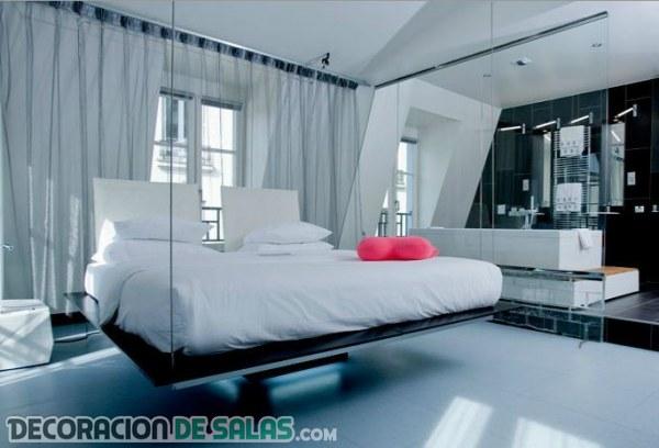 Camas colgantes para un dormitorio moderno