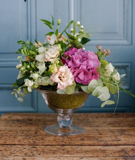 macetero con flores