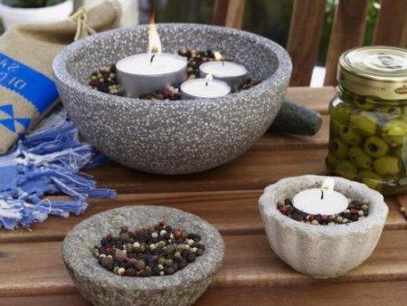 Centro de mesa modernos con velas
