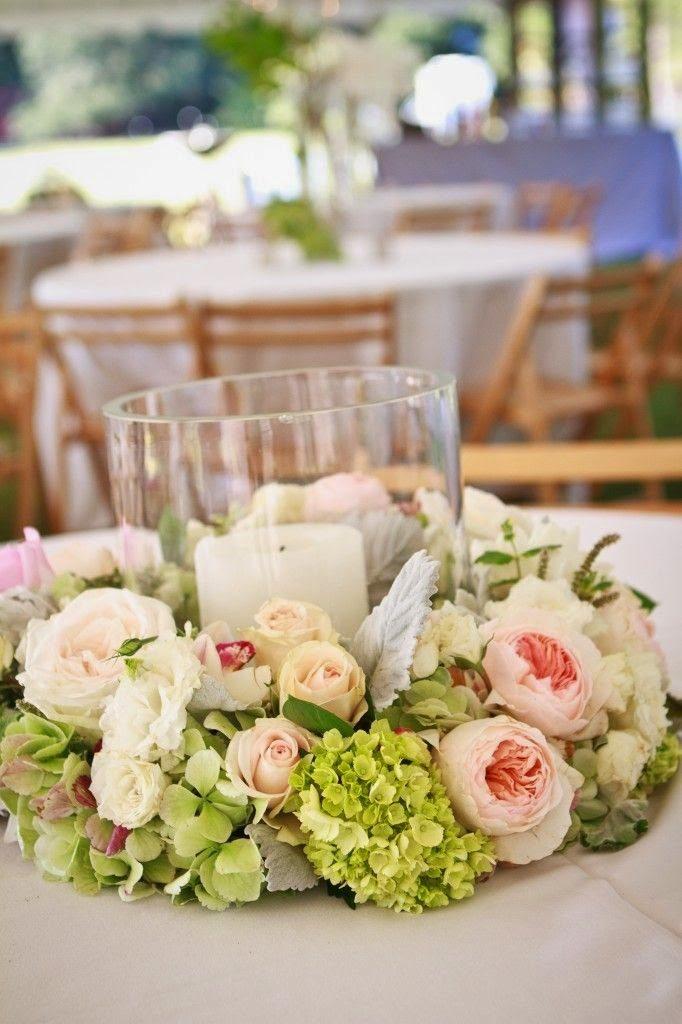 centro de mesa comunión con flores