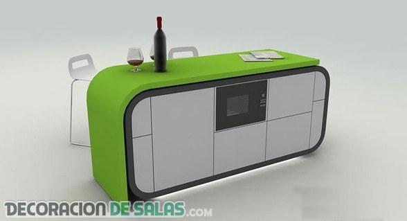 Cocina futurista en una sola pieza
