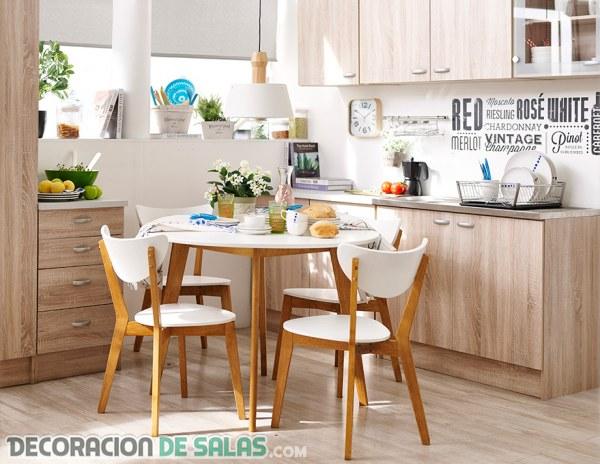 Cocinas y comedores juntos en espacios peque os for Muebles de cocina modernos pequenos