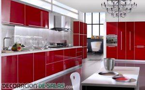 Pasión en la cocina gracias al color rojo