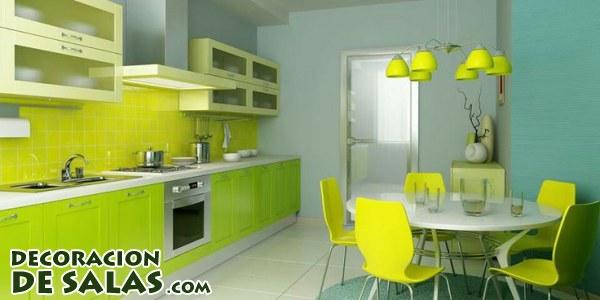 Cocinas en color verde