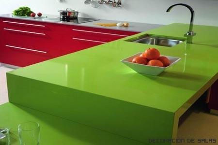 Cocina alegre y con color