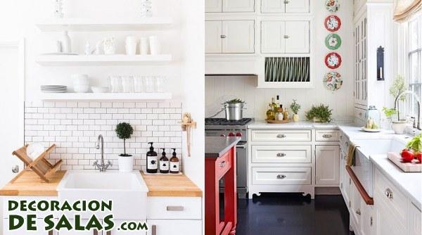 Fregaderos y cocinas en color blanco