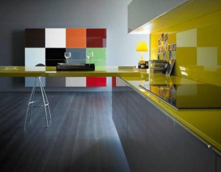 Cocinas muy coloridas