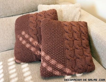 Cojines de lana para decorar tu hogar