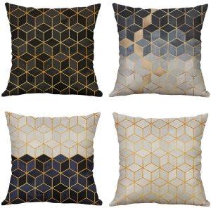 cojines estampados geométricos