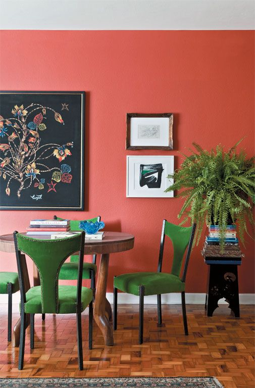 Color coral para las paredes
